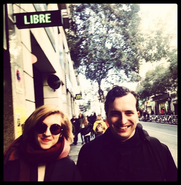My husband and I being libre in Madrid. PH Kamilla