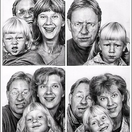 This pic of my very early 90s family. PH early photobooth