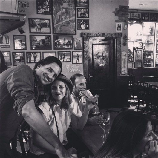 This night on a Cuban bar in Madrid. PH mamma