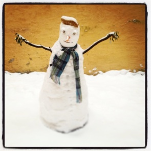 This snowman who once welcomed me with a big hug