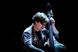 Karl Erik making his double bass expression