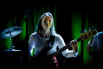 Liva rocking the bass guitar